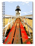 Path To The Lighthouse Spiral Notebook