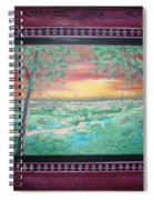 Path To The Pedernales River With Painted Frame Spiral Notebook