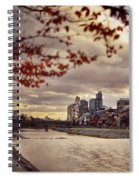 Pathway Along Kamo River In A Beautiful Dramatic Autumn Sunset S Spiral Notebook