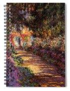 Pathway In Monet's Garden Spiral Notebook