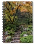 Pathway Into Fall Spiral Notebook