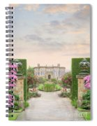 Pathway Leading To A Mansion Through Beautiful Gardens Spiral Notebook