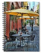Patio Cafe In Nola Spiral Notebook