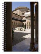Patio De Los Leones Nasrid Palaces Alhambra Granada Spiral Notebook