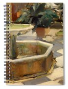Patio Fountain In Seville Spiral Notebook