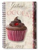Patisserie Chocolate Cupcake Spiral Notebook