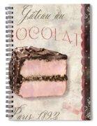Patisserie Gateau Au Chocolat Spiral Notebook