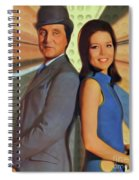 Patrick Macnee And Diana Rigg, The Avengers Spiral Notebook