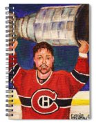Patrick Roy Wins The Stanley Cup Spiral Notebook