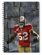 Patrick Willis San Francisco 49ers Blocks Spiral Notebook
