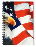 Patriotic Eagle And Flag Spiral Notebook