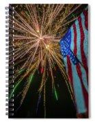 Patriotic Fireworks Spiral Notebook