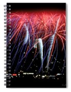 Patriotic Fireworks S F Bay Spiral Notebook