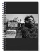 Patriotic Gorilla Pitchman July 4th Mattress Sale Tucson Arizona 1991  Spiral Notebook