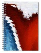 Patriotic Heart Spiral Notebook