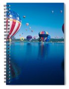 Patriotic Hot Air Balloon Spiral Notebook