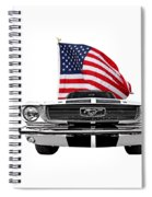 Patriotic Mustang On White Spiral Notebook