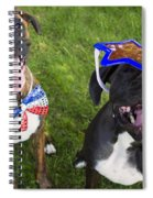 Patriotic Pups Spiral Notebook