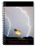 Patriotic Storm - Poster Print Spiral Notebook