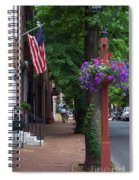 Patriotic Street In Philadelphia Spiral Notebook