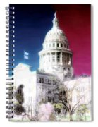Patriotic Texas Capitol Spiral Notebook