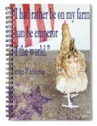 Patriotic Hen Spiral Notebook