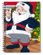 Patriots Santa Claus Spiral Notebook