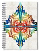 Pattern Art - Color Fusion Design 1 By Sharon Cummings Spiral Notebook