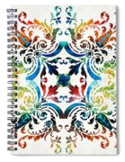Pattern Art - Color Fusion Design 7 By Sharon Cummings Spiral Notebook