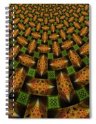 Pattern Brown With Green Spiral Notebook