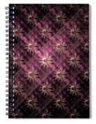 Pattern Of Stars Spiral Notebook