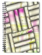 Pattern Tiles Abstract Spiral Notebook