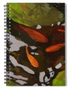 Patterns Of Green And Gold Spiral Notebook