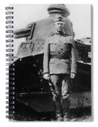 Patton Beside A Renault Tank - Wwi Spiral Notebook