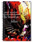 Paul Auster Poster Brooklyn  Spiral Notebook