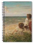 Paul Fischer, 1860-1934, Girls On The Beach Spiral Notebook