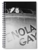 Paul Tibbets In The Enola Gay Spiral Notebook