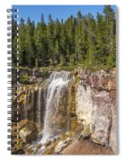 Paulina Creek Falls From The Top Spiral Notebook