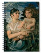 Pauline Runge With Her Two Year Old Son Spiral Notebook