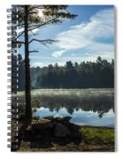 Pauper Lake Morning Spiral Notebook