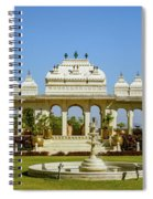 Pavilion And Fountain, Udaipur, India Spiral Notebook