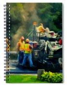 Paving Crew Spiral Notebook