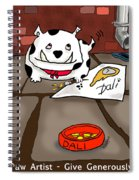 Paw Artist Give Generously Spiral Notebook