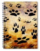 Paw Prints Spiral Notebook