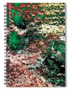 Paw Prints In Green And Red And Yellow Spiral Notebook