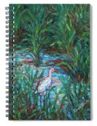 Pawleys Island Egret Spiral Notebook