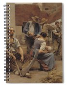 Paying The Harvesters Spiral Notebook