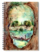 Paysage With A Boat Spiral Notebook