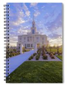 Payson Temple I Spiral Notebook