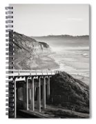 Pch Scenic In Black And White Spiral Notebook
